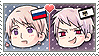 APH Chibi Heads Russia x Prussia Stamp by megumar