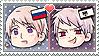 APH Chibi Heads Russia x Prussia Stamp by megumimaruidesu