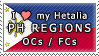 APH I love my PH Regions OCs Stamp by megumar