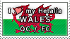 APH I love my Wales OC Stamp by megumimaruidesu