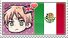 APH Chibi Heads England x Mexico Stamp by megumar