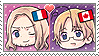 APH Chibi Heads France x Canada Stamp by megumar