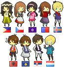 APH Sprites - Commission Batch part 1 by megumimaruidesu