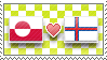 APH Checkered GreenFar Stamp by megumimaruidesu
