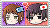 APH Chibi Heads Greece x Japan Stamp by megumimaruidesu