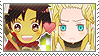 APH Checkered Rome x Germania Stamp by megumimaruidesu