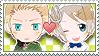 APH Checkered GerUkr Stamp by megumimaruidesu