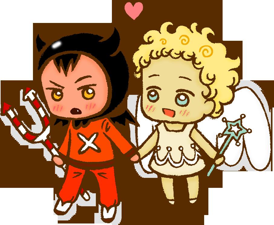 CookieRun - Devil x Angel cookie by megumimaruidesu
