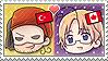 APH Chibi Heads Turkey x Canada Stamp by megumimaruidesu