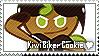 Kiwi Biker Cookie Stamp by megumar
