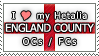 APH I love my England County OCs Stamp by megumar