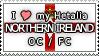 APH I love my Northern Ireland OC Stamp by megumimaruidesu