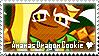 Ananas Dragon Cookie Stamp