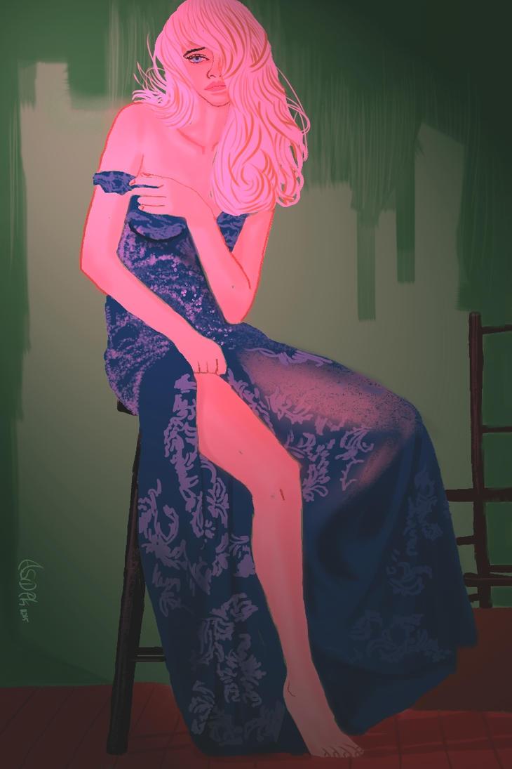 Woman in Blue by Asidpk