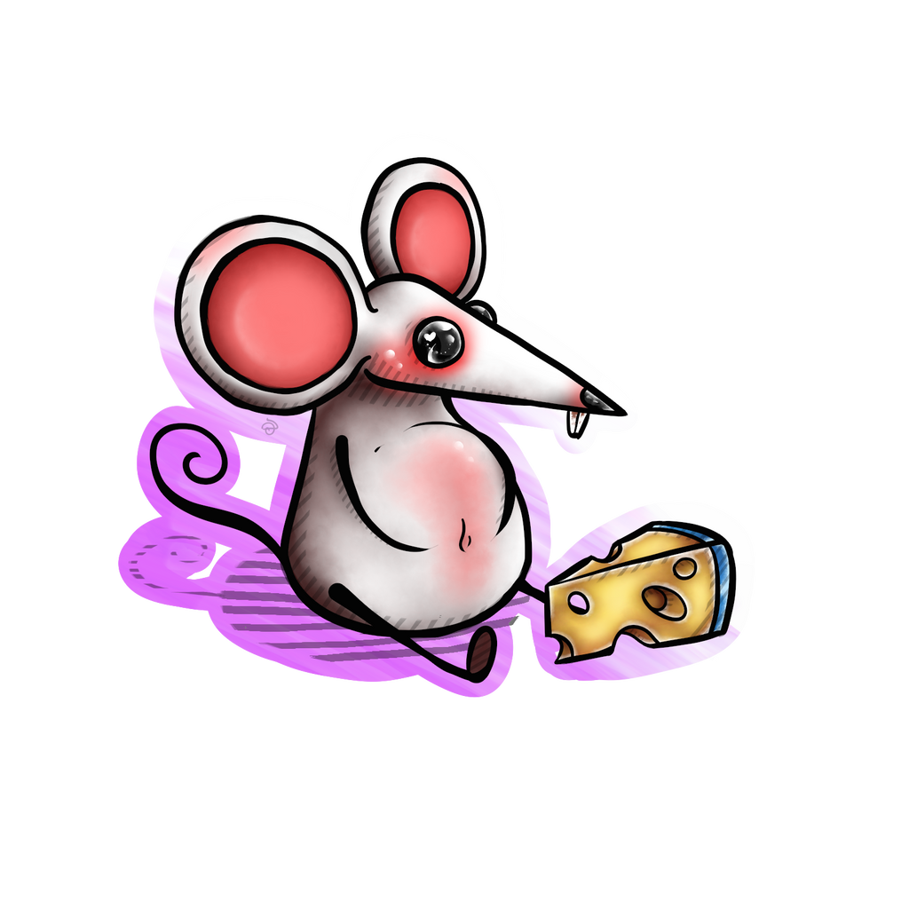white mouse by cross-the-swirl