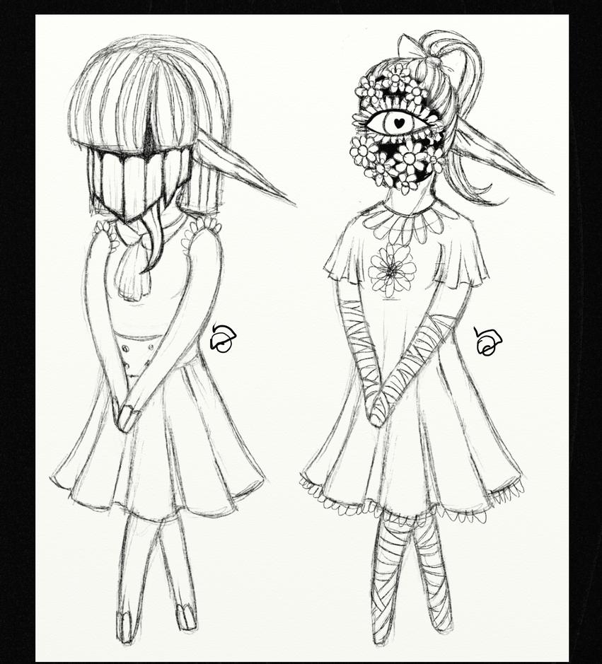 Monster girls. by cross-the-swirl