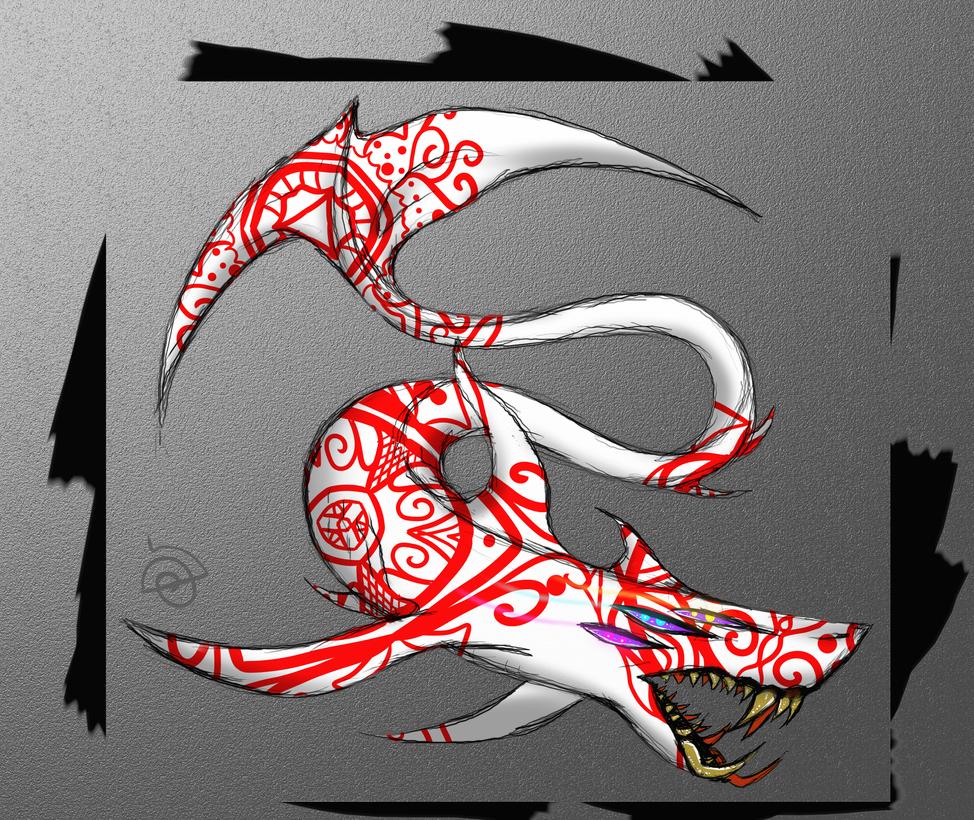 God shark. by cross-the-swirl