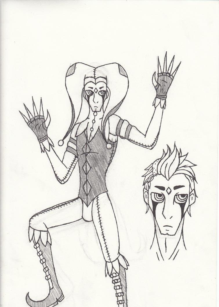 Jester Doodle by cross-the-swirl