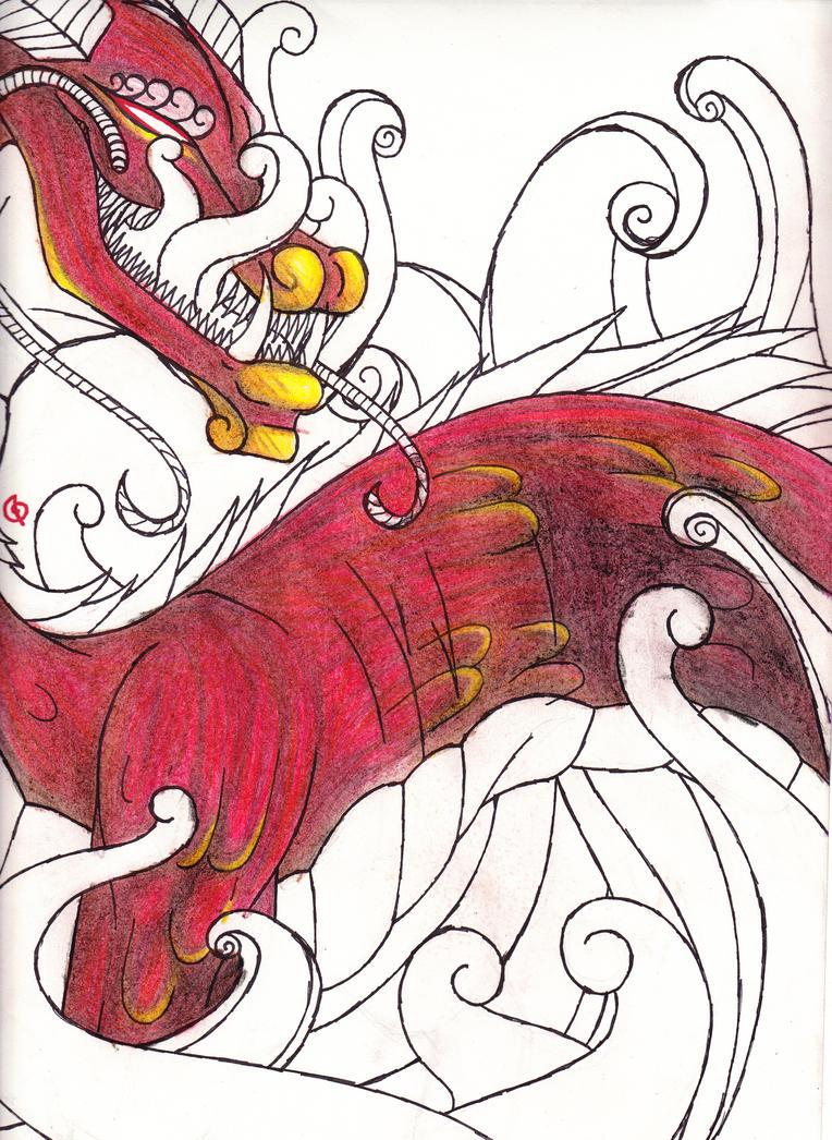 Dragon by cross-the-swirl