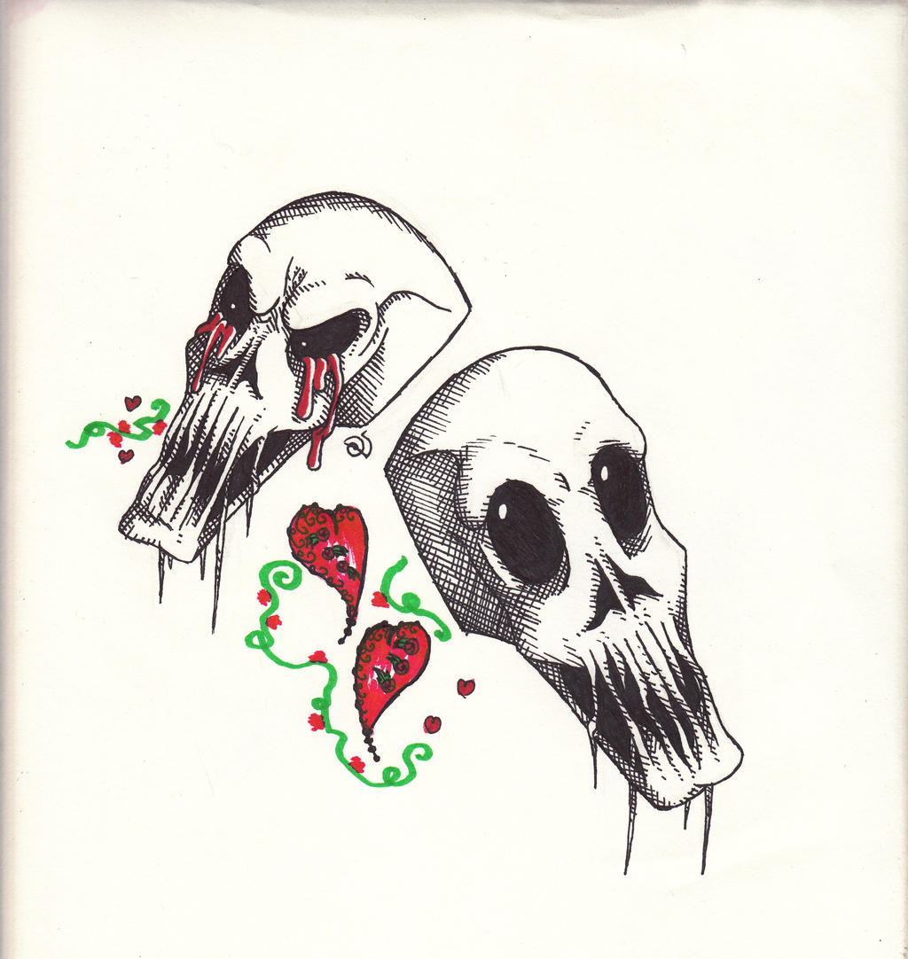 Scull Buddies by cross-the-swirl