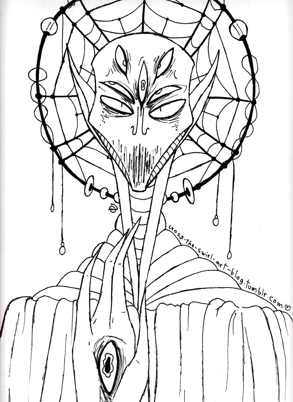 Alien God by cross-the-swirl