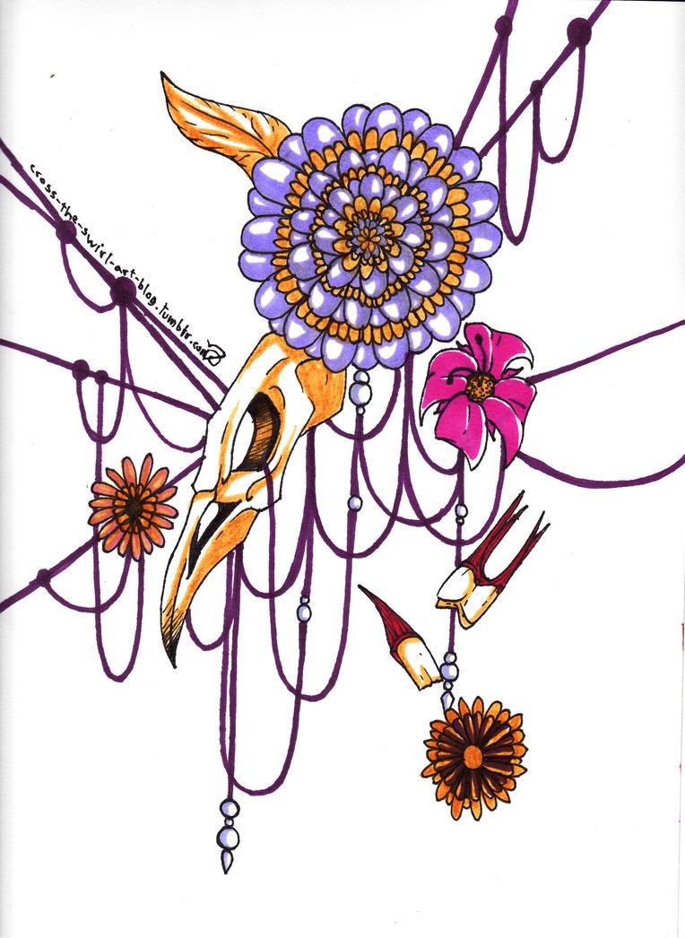 Skullflower by cross-the-swirl