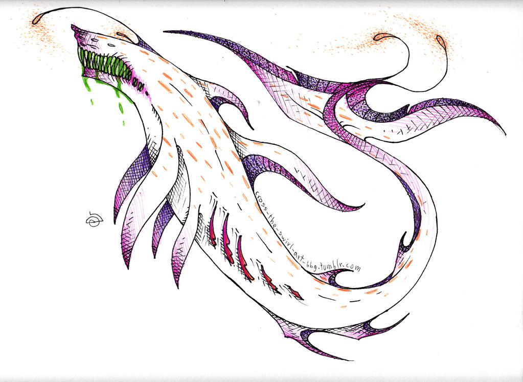River monster by cross-the-swirl
