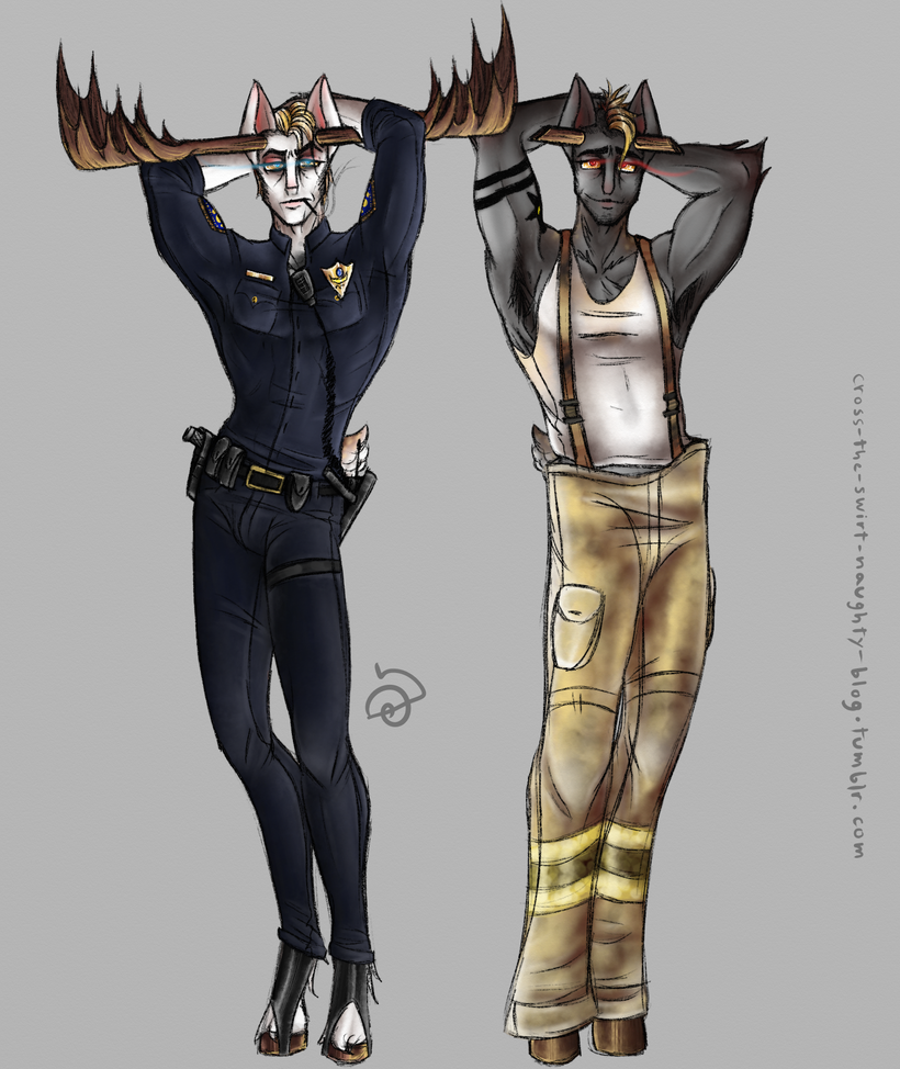 Moose brothers working it. by cross-the-swirl