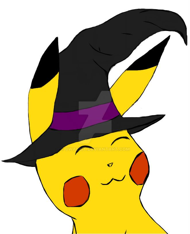 Witchy Pikachu by Bwabbit