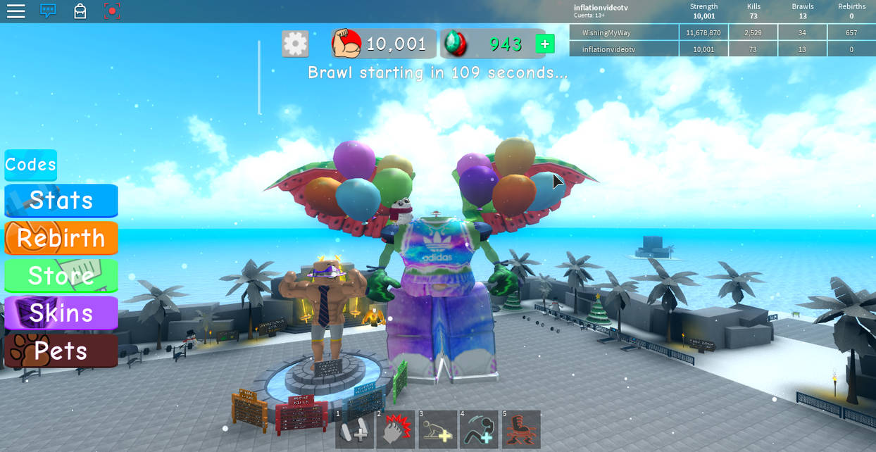 Roblox Giant Avatar In Weight Lifting Simulator By