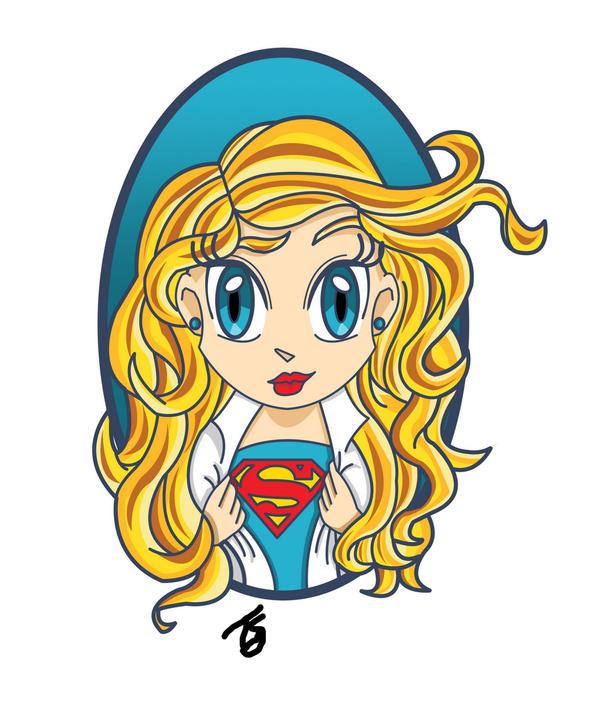 Chibi Supergirl by GroundUpStudios