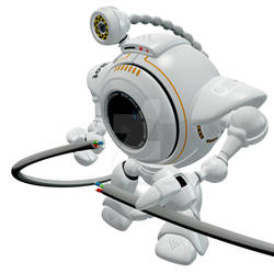 Robo Web Cam Fixing Cord Side