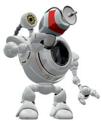 Robo Web Cam Ray Gun Hero Pose