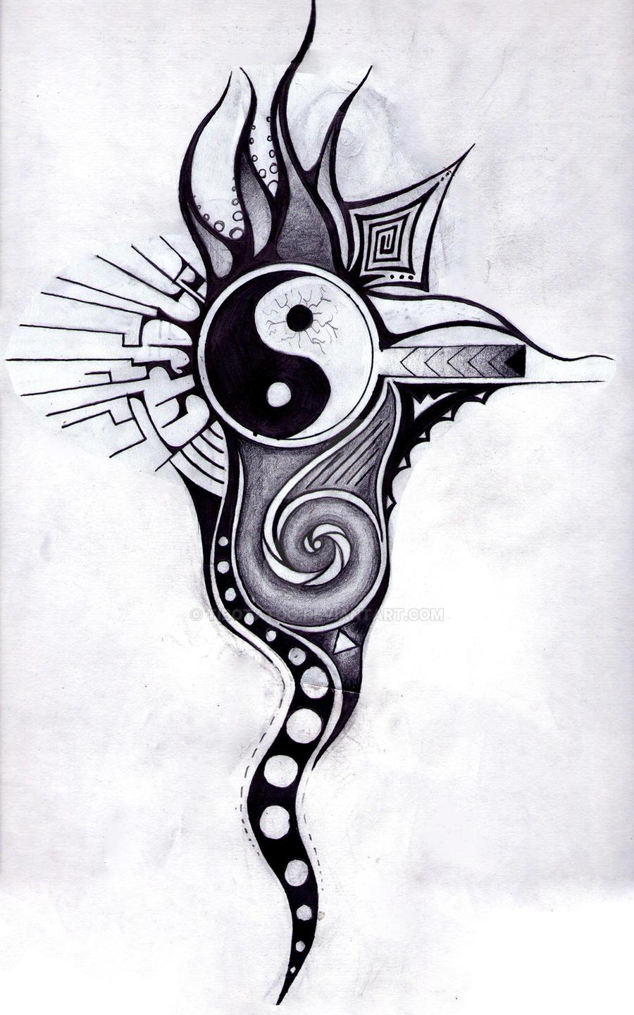 Ying yang black tattoo by tibotatoo on deviantart - Tatouage ying yang ...