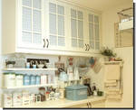 Paint and Refinish Antique White Kitchen Cabinets
