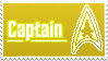 Stamp 001 - Star Trek Captain by piinq-stardust