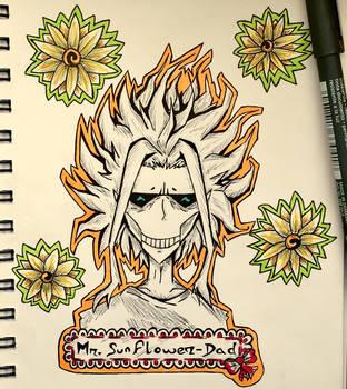 Mr. Sunflower-Dad  by Dementeris-San
