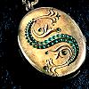 Slytherin locket by jupiterskye