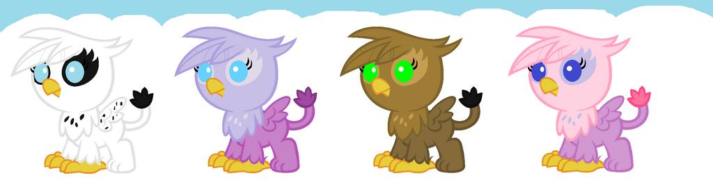 Baby Griffon adopts by Firegirl1015