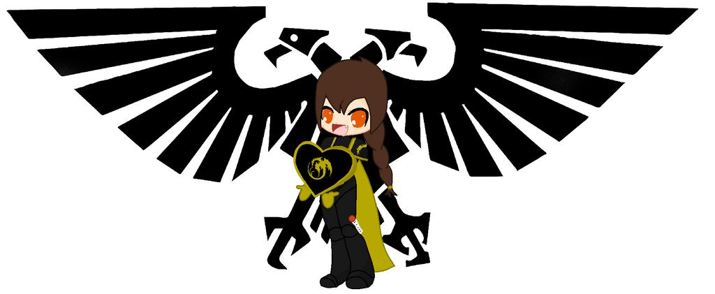 Golden Dragons Space Marine Girl by Firegirl1015
