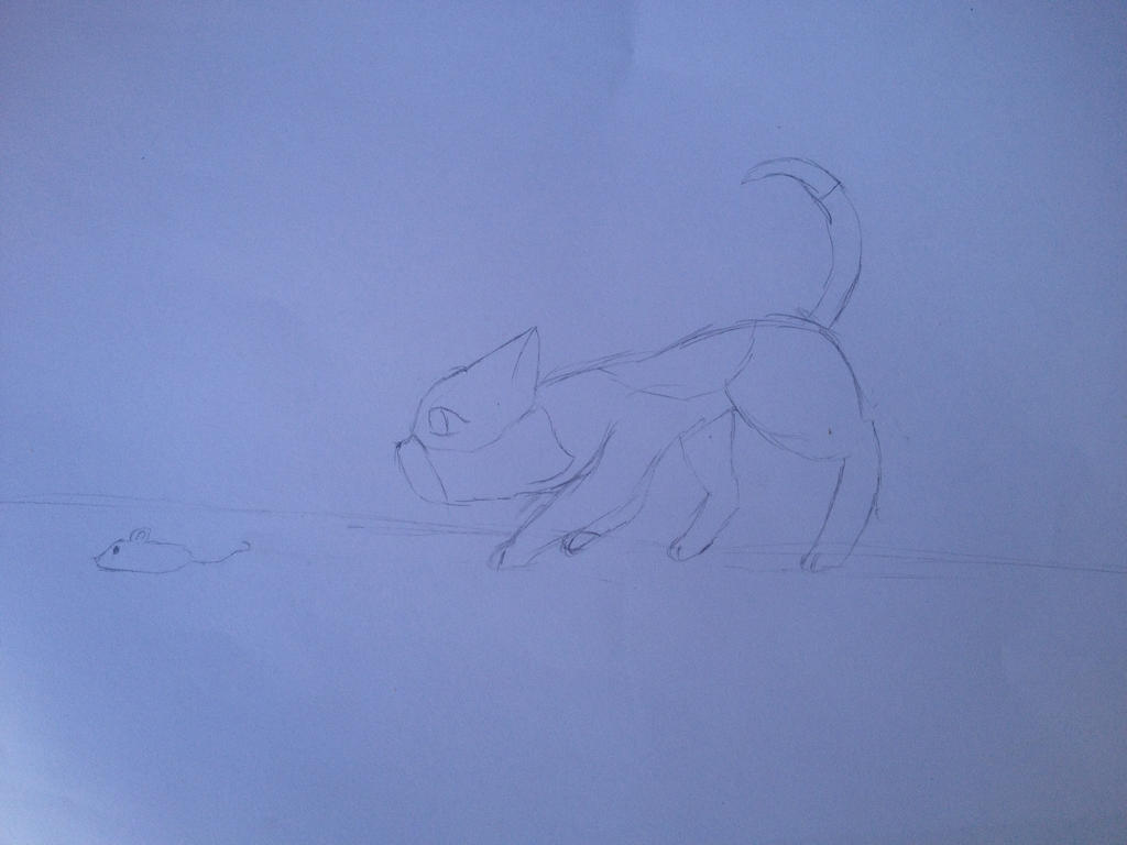 Sparrowpaw hunting by Firegirl1015