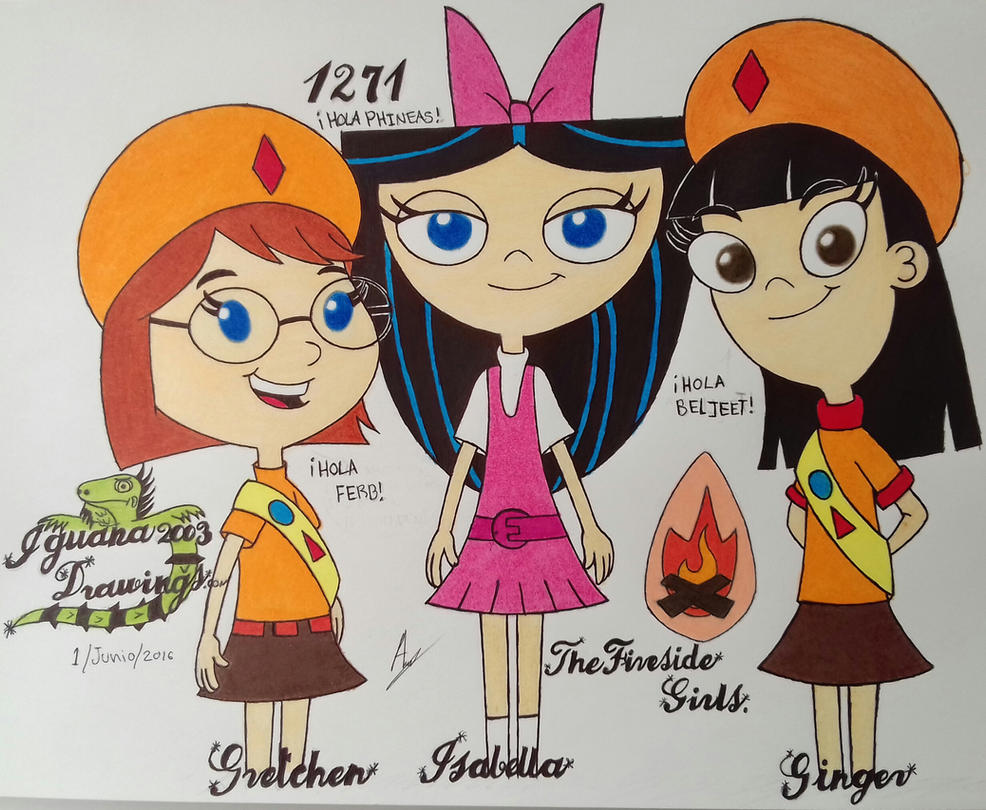 Baljeet fireside girls ginger hirano phineas and ferb