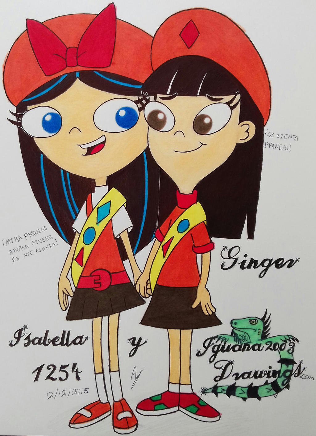 Fireside Girls - Isabella And Ginger Hirano N.1254 by ...  |Phineas And Ferb Ginger