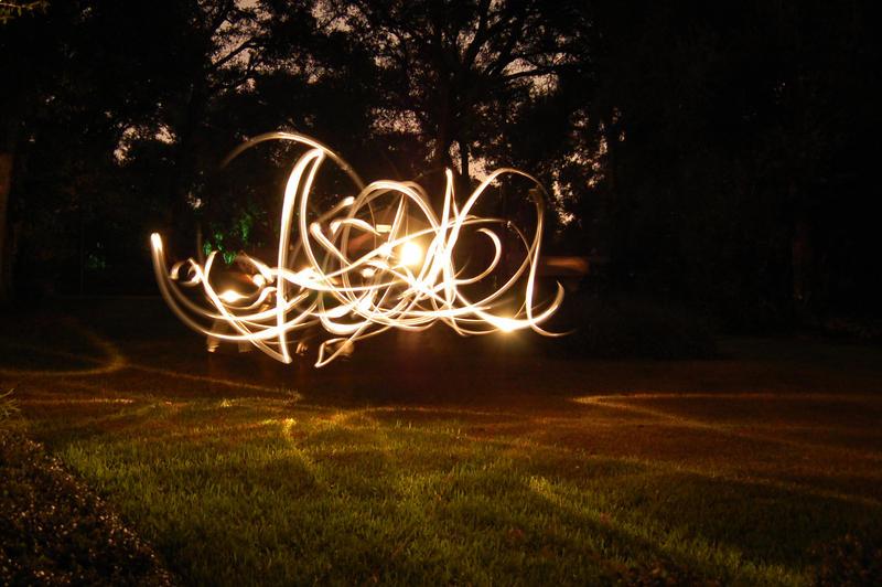 Light writing artist