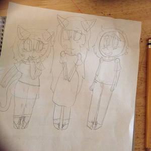 Nyan~ Neko Sugar Girls by BeetBoxin