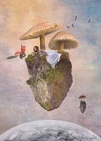 Cosmic mushrooms by anakurpek
