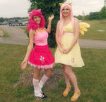 Pinkie and Fluttershy Cosplay