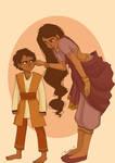 Charan and Sandhya