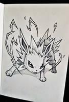 Jolteon Quick Sketch by MaxPaucar92