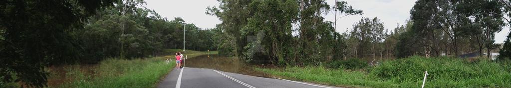 Beenleigh Redland Bay Rd Flooded 2 by CrystalheartKey89